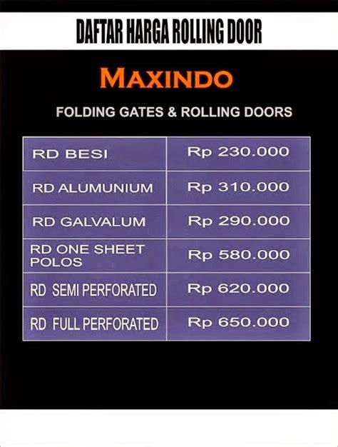 Rolling Door Murah 088808145682 2 daftar harga folding gate per meter murah bekasi