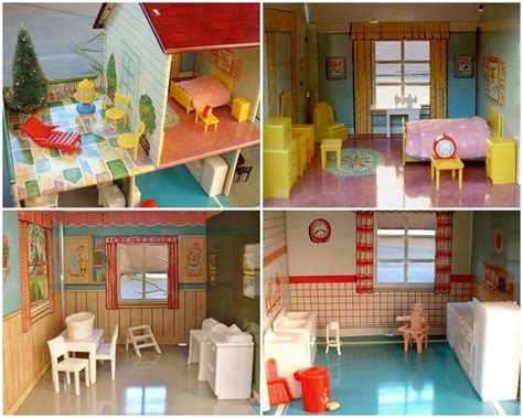vintage metal doll house 12 best vintage tin doll house images on pinterest