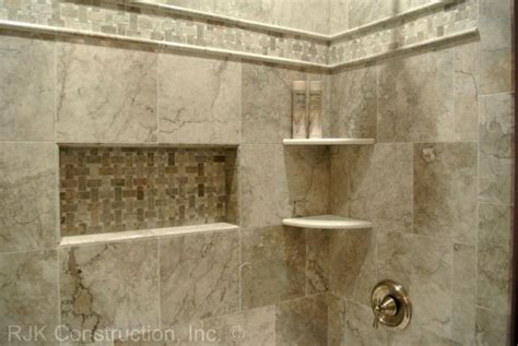 Ceramic Tile Shower Shelf by Ceramic Tile Tub Surround Ideas Corner Shelves