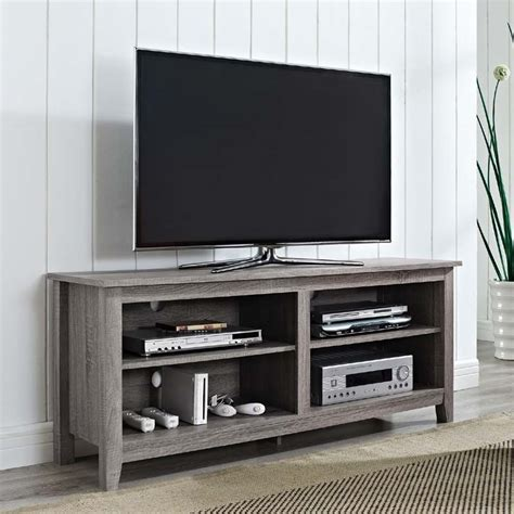 walker edison urban essentials 60 inch tv stand ash gray w58cspag