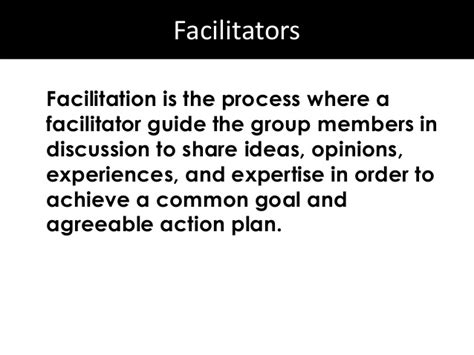Facilitation Skills Course Outline by Module 4a Facilitation Skills Basic Skills