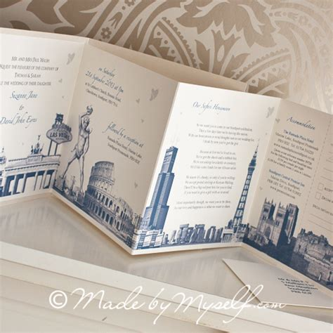 Travel Brochure Wedding Invitation by Concertina Wedding Invitations Wedding Celebrations