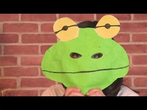 How Do You Make A Frog Out Of Paper - how to make a frog mask