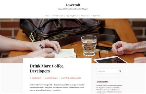 theme lovecraft blog lovecraft a free blogger wordpress theme by anders noren