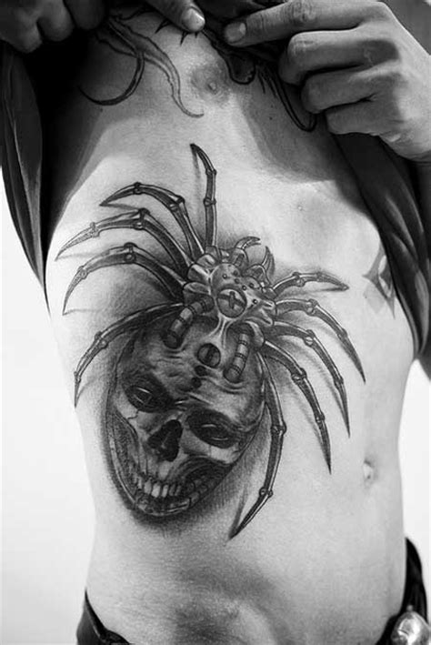 spider tattoos for men rib quotes tattoos for guys quotesgram
