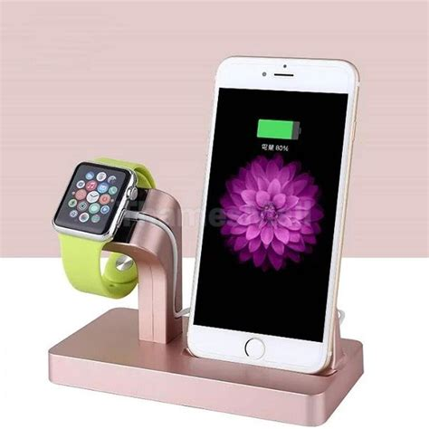 Watch Station Gift Card - charging dock station charger stand holder for apple watch iphone rose gold ebay
