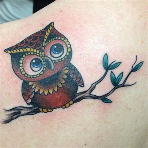 small cute owl tattoos owl tattoos elaxsir
