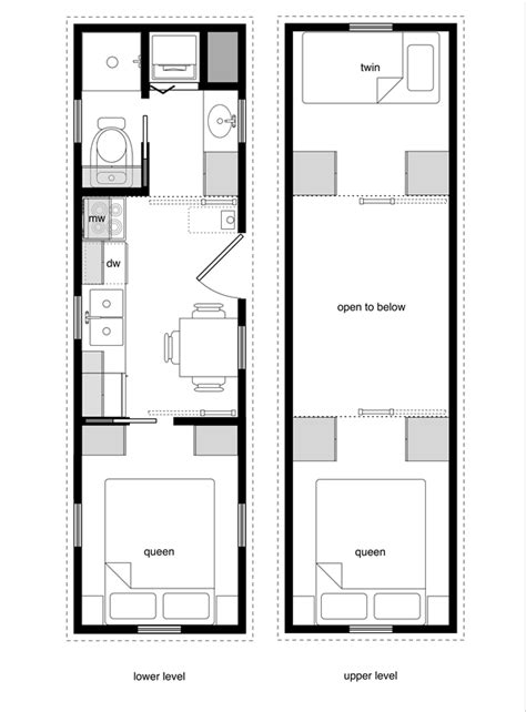 tiny houses floor plans tiny house floor plans with lower level beds tiny house
