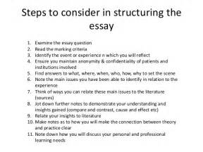 Steps On How To Write An Essay by How To Write A Reflective Essay