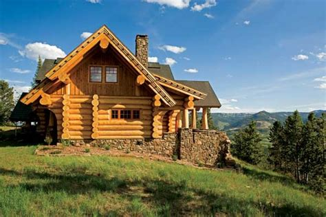 montana log home just plain pretty