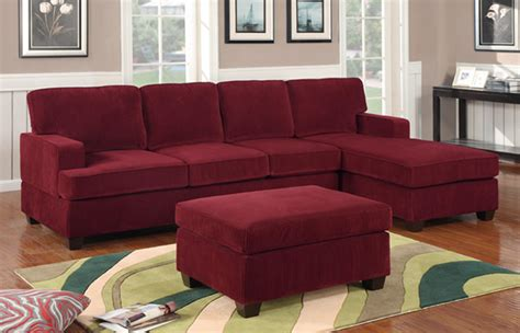 wine and couch wine colored sofa f7134 wine sectional sofa set by poundex
