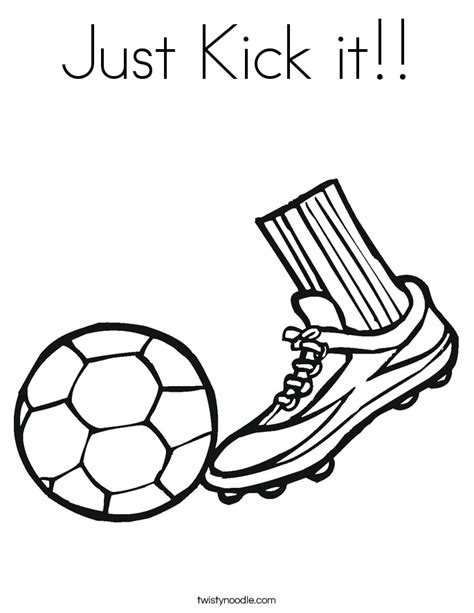 It S Just A Kick kicking free coloring pages