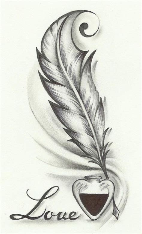 pen tattoo challenge beautiful simple drawings love 1000 ideas about feather