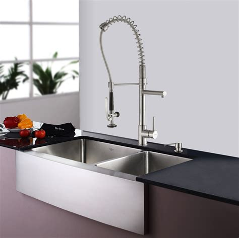 Stainless Steel Kitchen Sink Combination Kraususa Com Metal Kitchen Sinks