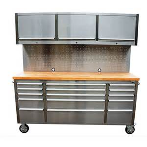 Display Cabinets Bunnings 1 8m Garage Workbench Cabinet Tool Chest Stainless Steel
