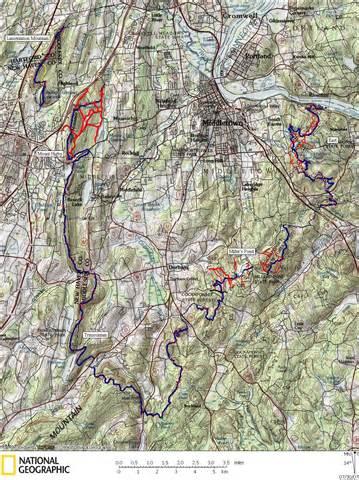 hiking trails map mattabesett trail hiking map