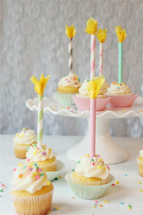 Candle Toppers by Icing Designs Diy Paper Straw Birthday Candle Cupcake Toppers
