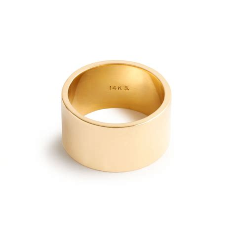 j crew brvtvs thick 14k gold ring in gold yellow gold lyst