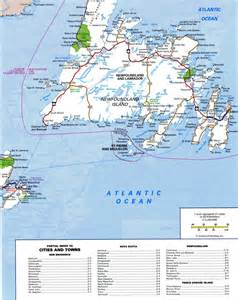 road map of newfoundland canada highway map newfoundlandfree maps of canada