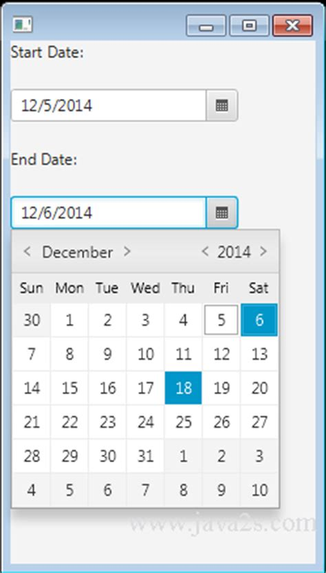 format date javafx javafx tutorial javafx datepicker