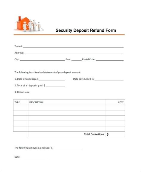security deposite receipt template non refundable deposit receipt kinoroom club