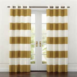 White Gold Curtains Alston Ivory Gold Curtains Crate And Barrel