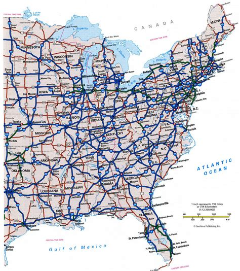 large us road map highway cities of usfree maps of us