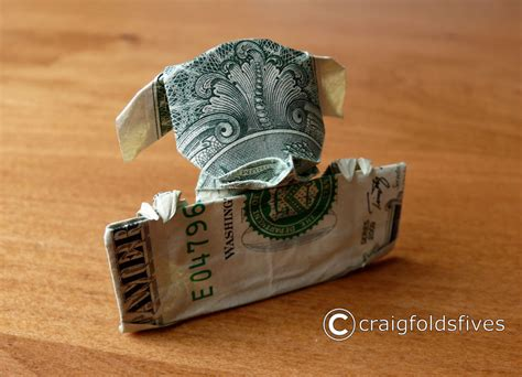 Origami From A Dollar Bill - dollar bill origami by craigfoldsfives bored panda