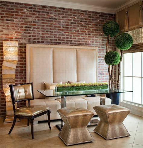 decoracion comedor mesa de vidrio 1001 ideas de decoraci 243 n con pared de piedra o ladrillo