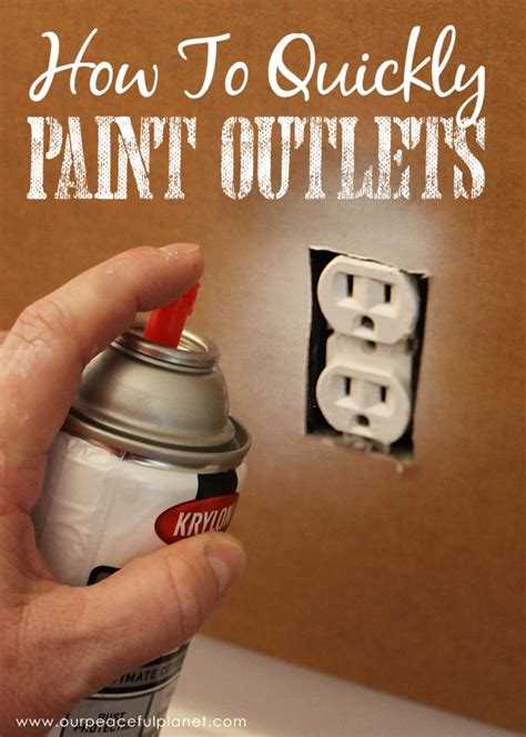 save time money  painting outlets  peaceful planet