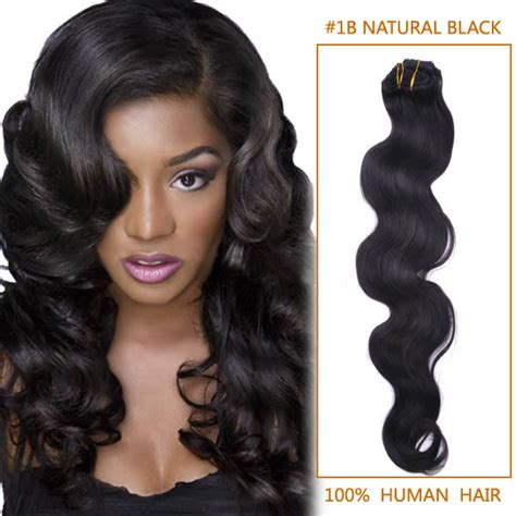 black hairstyles with remy hair 20 inch 1b natural black body wave indian remy hair wefts