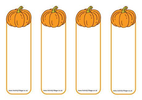 printable pumpkin bookmarks pumpkin bookmarks