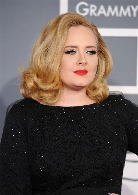 short bouncy bobs adele mid length bob hairstyle with bouncy curls hair