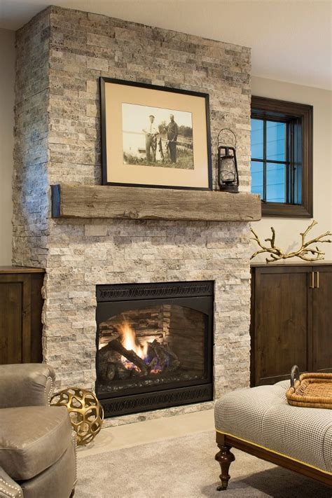 cobblestone fireplace 25 best ideas about stone fireplace mantles on pinterest
