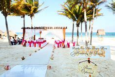 mexico wedding hashtags ceremony set up on the of the mandala club in