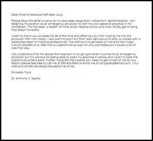Physician resignation letter resignation letters livecareer