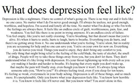 How Depression Feels Quotes