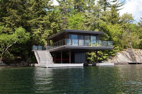 boat house boathouse by level design build barrie cottage