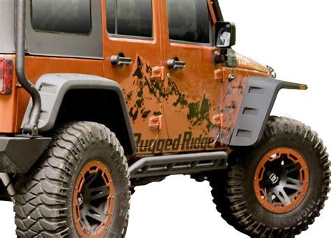 rugged ridge fenders 2007 2018 jeep wrangler rugged ridge hurricane fender flare kit rugged ridge 11640 09