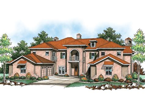 Valona Mediterranean Home Plan 051s 0084 House Plans And Mediterranean House Roof Design