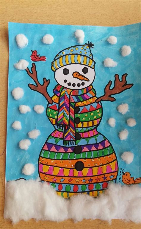 crafts for how to make snowman craft for preschool and