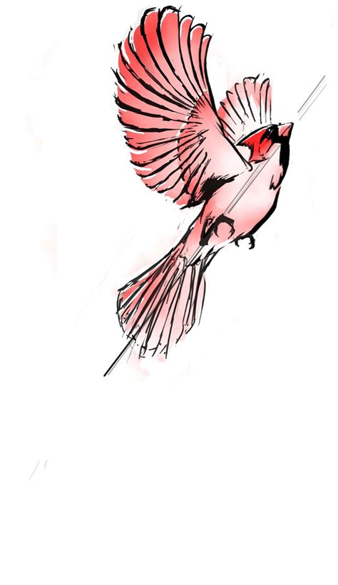 cardinal tattoo designs cardinal by mikebourbeauart on deviantart