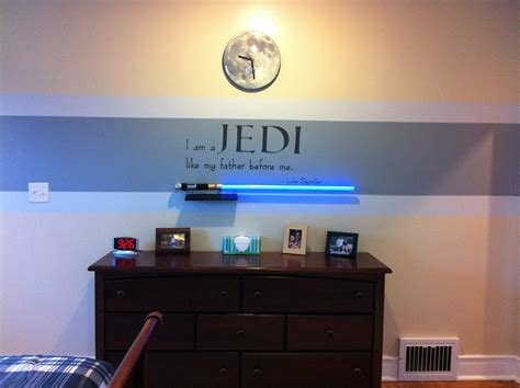 Star Wars Bedroom Idea Red Stripe Instead Since My Boy Wars Room Decor