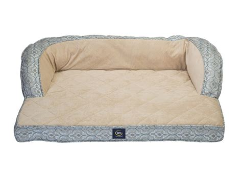 memory foam dog couch couch dog bed w memory foam blue print