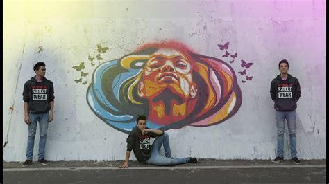 graffiti spray paint stencil art vol  tapei time lapse