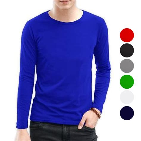 T Shirt Cotton Combed 30s kaos polos cotton combed 30s sleeve lengan panjang