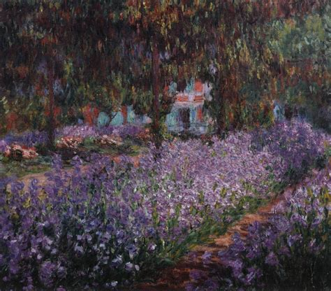 claude monet garten irises in monet s garden at giverny by monet claude