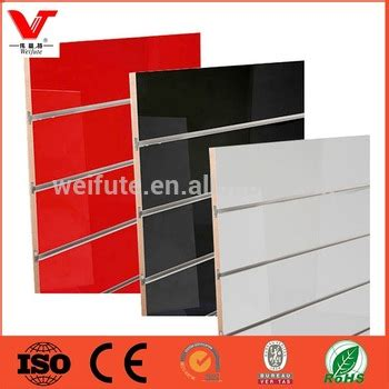 high class low price mdf low price slotted mdf board slat wall panel slatwall board