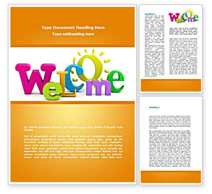 welcome word template 08470 poweredtemplate com