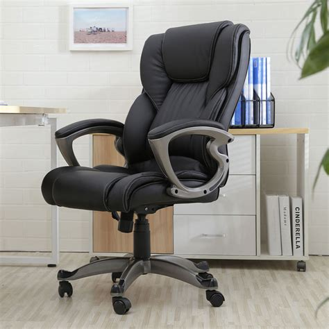 leather office armchair executive chair swivel office chair faux leather high back